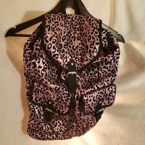 Justice Stylish Shiny Pink and Black Backpack.